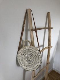 Round Silver Sequin Basket