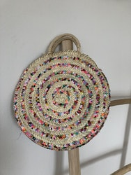 Colourful Round Sequin Basket