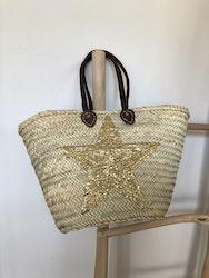 Gold Sequin Star Basket