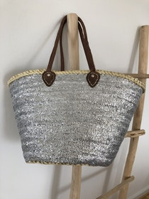 Silver Sequin Basket