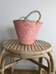 Small pink sequin basket