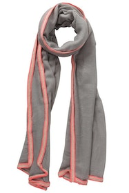 Grey with Pink Trim Scarf