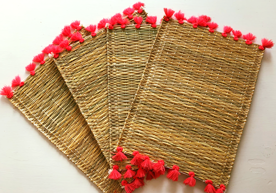 Coral Tassel Placemats