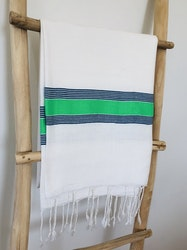 White and Green Striped Sarong