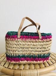 Mini Green & Pink Beach Basket