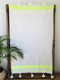 Small - White and Neon Yellow Blanket