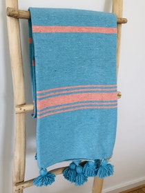 Medium - Turquoise and Pink Blanket