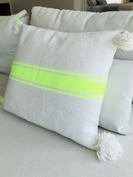 White and Neon Yellow Cushion