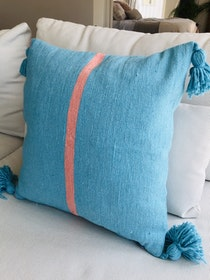 Turquoise and Pink Cushion