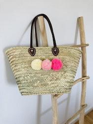 Pompom Basket - Pink Hues