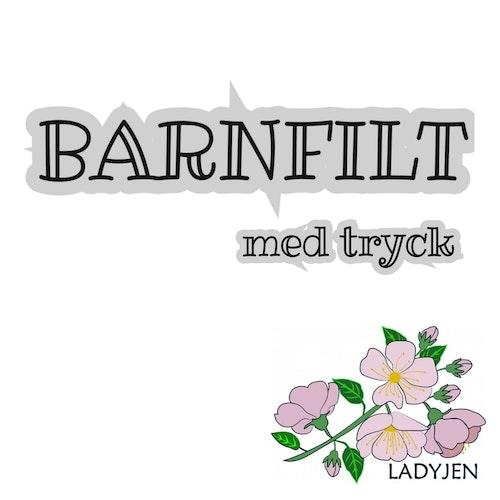 BESTÄLLNING  - BARNFILT med namntryck