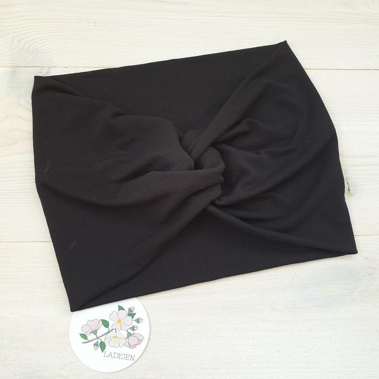 Beställning - svart turbanpannband