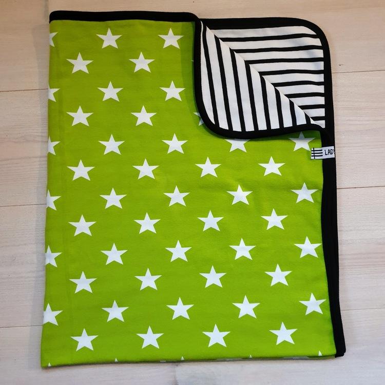 BARNFILT - limegrön stjärna