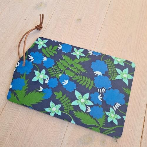 SKÄRBRÄDA - blommönster blå