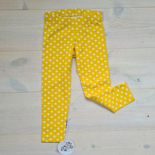 Prickiga gula leggings i storlek 86/92