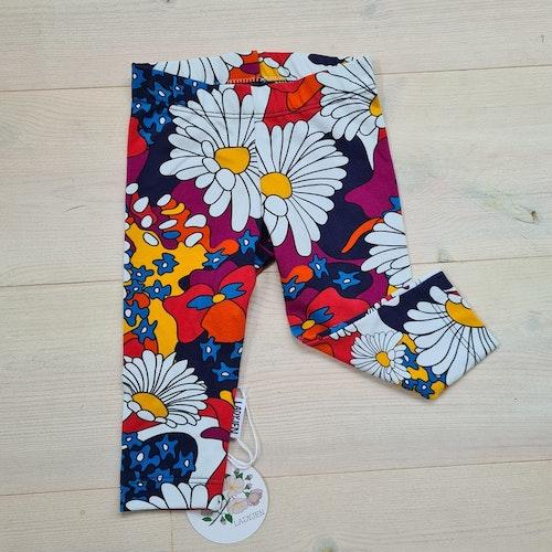 Färgglada blommiga leggings i storlek 62/68