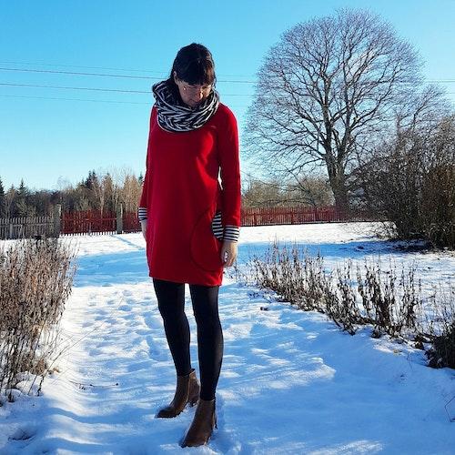 Röd Velourklänning