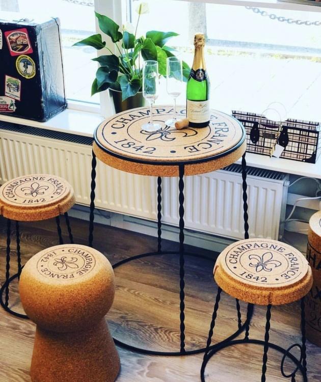 Champagne korkbord