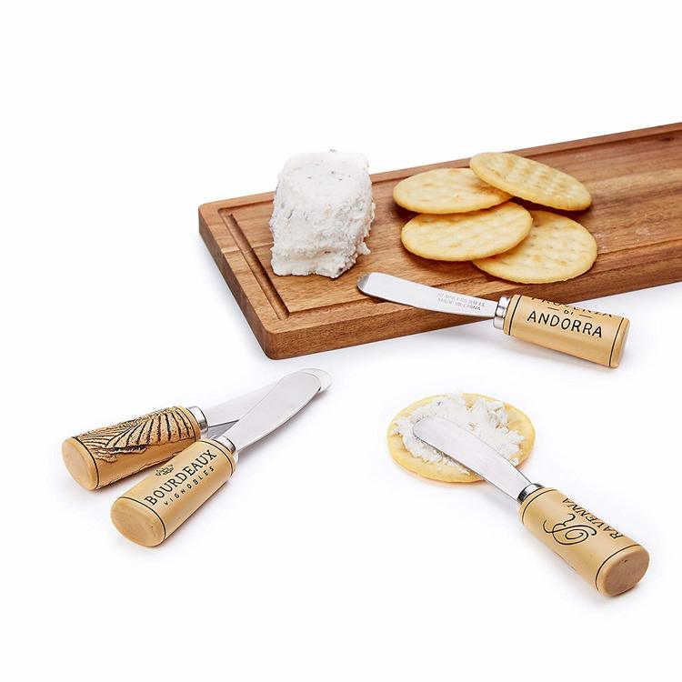 Wine cork Cheese Spreaders 4-pack