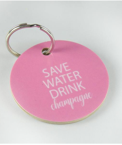 Nyckelring  Save water drink Champagne