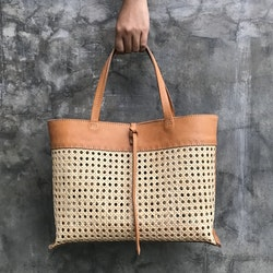 Alixtra Rattan Bag Brown