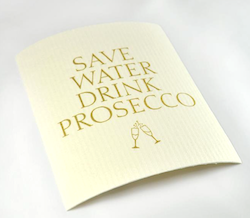 Disktrasa Save water drink Prosecco