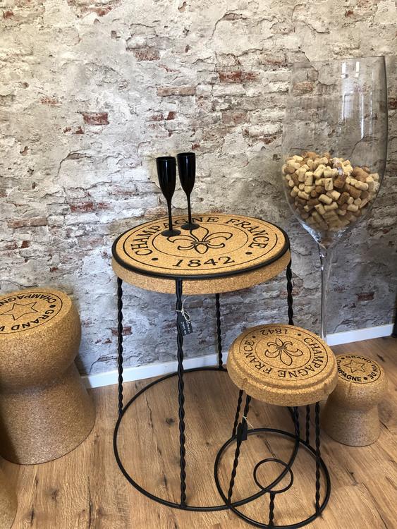 Champagne korkbord- endast bord