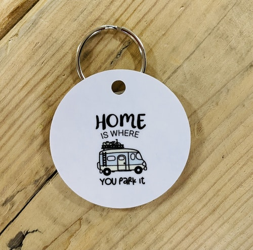 Nyckelring Home is where you park it- Husbil