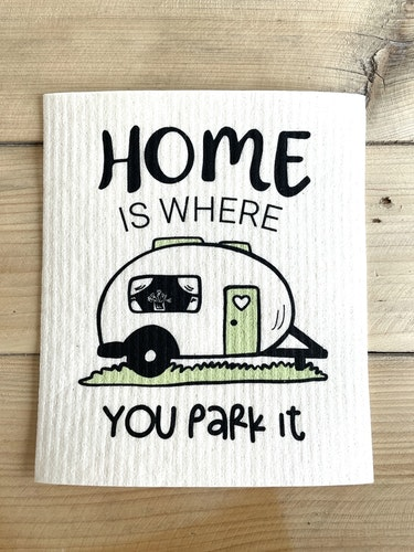 Disktrasa Home is where you park it- husvagn