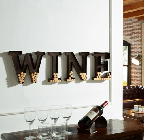 WINE väggbokstäver för kork