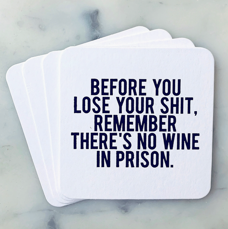 Before You Lose Your Shit Coasters 4-pack