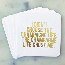 Champagne Life Coasters 4-pack