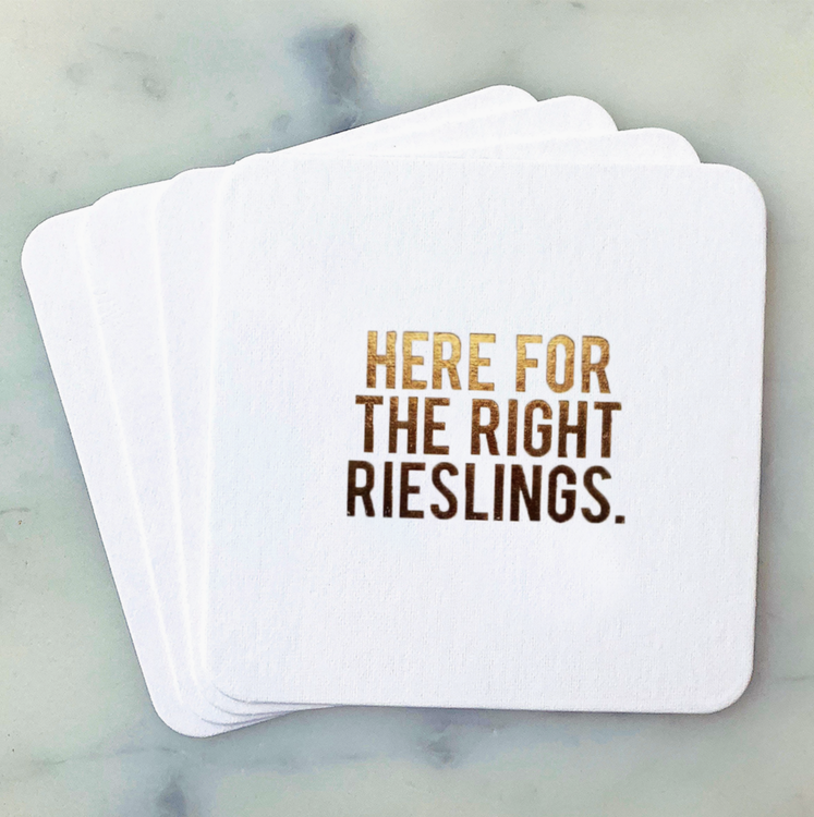 Here for the right Rieslings Coasters 4-pack