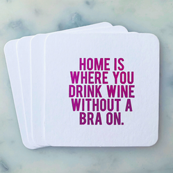 Home is Where Coasters 4-pack