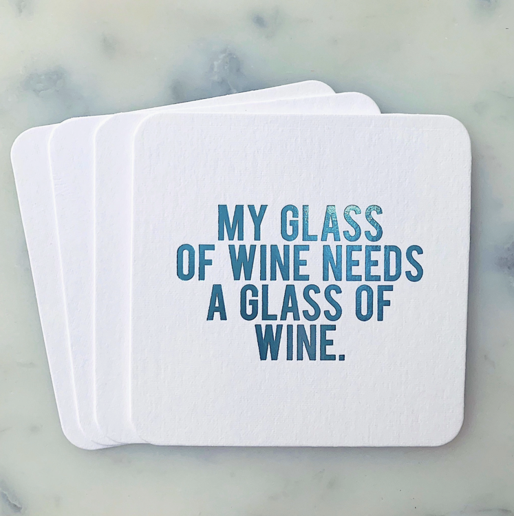 My Glass of Wine Coasters 4-pack