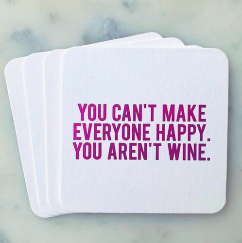 You can't make everyone Happy Coasters 4-pack