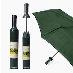 Estate Wine green bottle Paraply