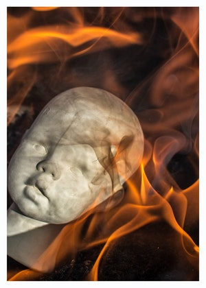 Rakudoll Poster On fire