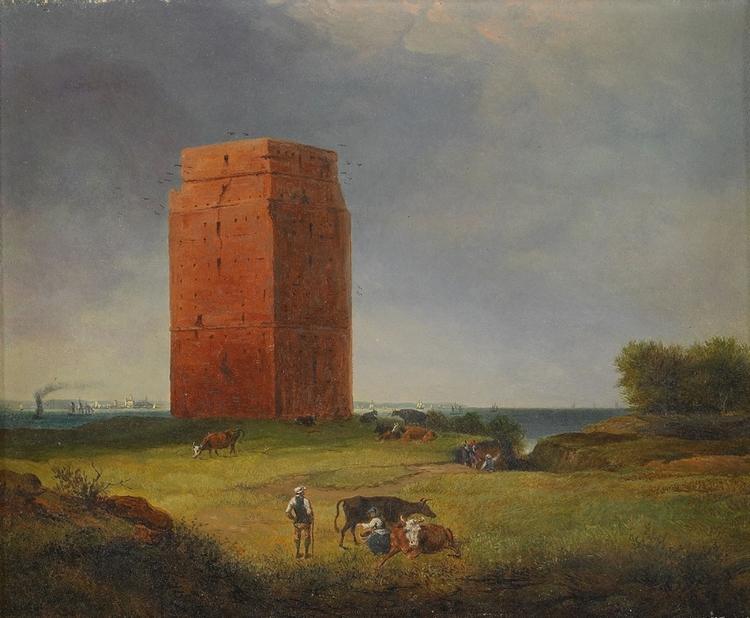 KÄRNAN HELSINGBORG 1850 av JOSEPH MAGNUS STÄCK