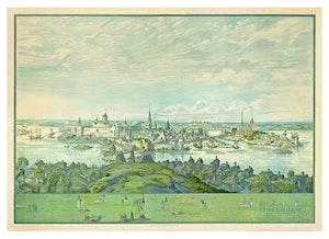 TRE KRONOR STOCKHOLM UNDER WASA TIDEN fastställd genom mätningar 1925