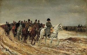 """KEJSARE NAPOLEON TILL HÄST : """"1814"""" av Jean-Louis Meissonier"""