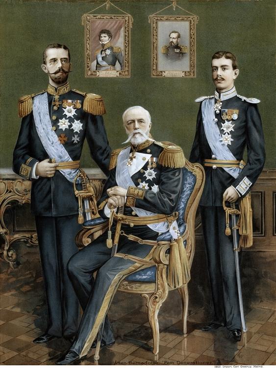 BERNADOTTE FAMILJEN 1902 av Okänd Mästare