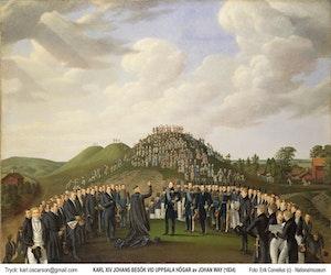 KARL XIV JOHAN BESÖKER UPPSALA HÖGAR av JOHAN WAY