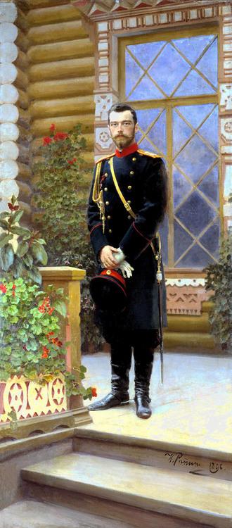 NICHOLAS II 1896 - NIKOLAJ II 1896 by/av Ilja Repin