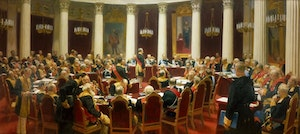 NICHOLAS II IN THE STATE COUNCIL 1901 - NIKOLAJ II I STATLIGA RÅDET 1901 by/av Ilja Repin