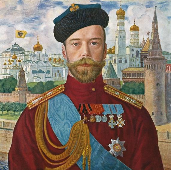TSAR NICHOLAS II 1915 - TSAR NIKOLAJ II 1915 by/av Boris Kustodiev