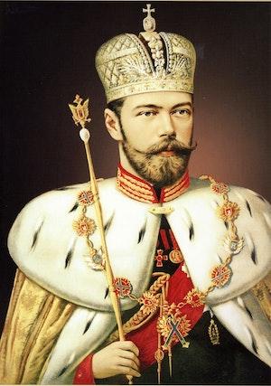 NICHOLAS II IN CORONTATION VESTMENTS - NIKOLAJ II I KRÖNINGSSKRUD by/av Unknown Master /Okänd Mästare