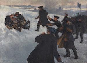 KARL XII:s DÖD av Gustaf Cederström