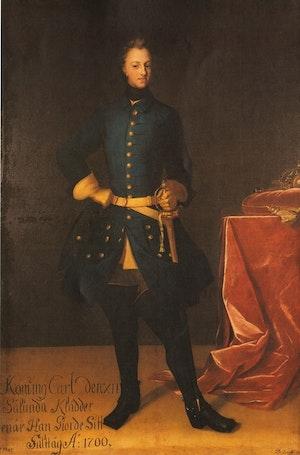 KARL XII i helfigur av David von Krafft