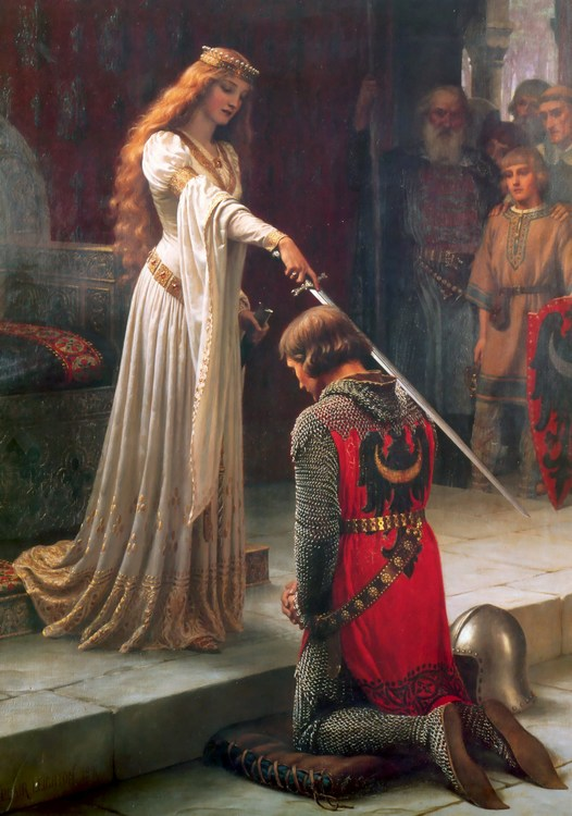 THE ACCOLADE - RIDDARSLAGET av Edmund Blair Leighton